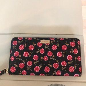 Kate Spade Rose 🌹 zip wallet